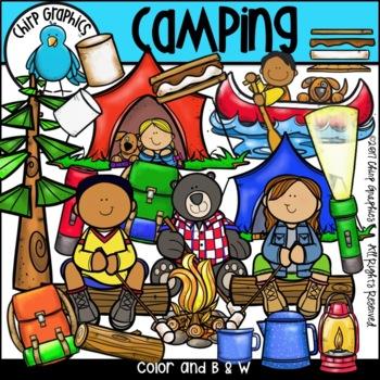 Camping Clip Art Set - Chirp Graphics