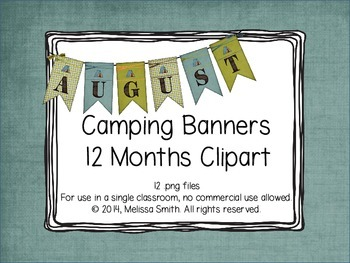 Camping Clipart Banners of the Months