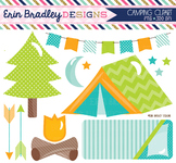 Camping Clipart Blue