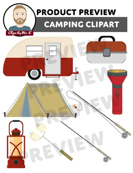 Camping Clipart (Clips by Mr. K)