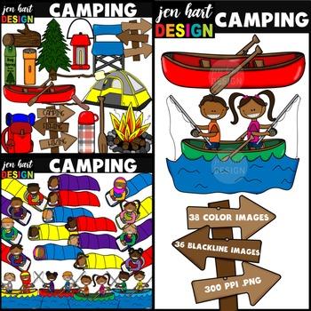 Camping Clipart Set