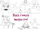Camping Clipart With Black & White Images Included!