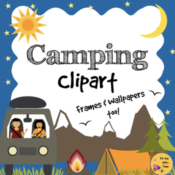 Camping Clipart Black White Images Good Outdoor And Field Trip Worksheet