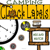 Camping Clock Decor: For Your Camping Themed Classroom