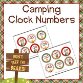 Camping Clock Number Labels