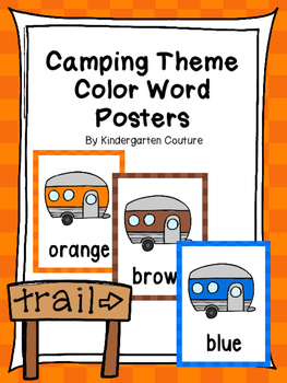 Camping Color Posters
