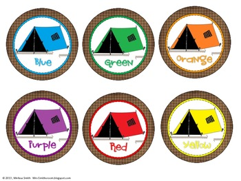 Camping Color Posters and Table Signs