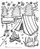 Camping Coloring Sheet {MrsBrown.Art}