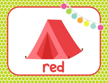 Camping Colors Posters-Classroom Theme Decor
