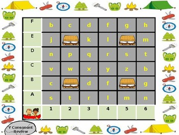 Camping Coordinate Word Building Games for  the American Reading Program