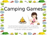 Camping Coordinate Word Building Games for  the American R