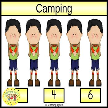Camping Clip Task Cards