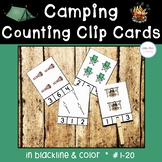 Camping Counting Clip Cards