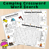 Camping Crossword Puzzle and Word Search