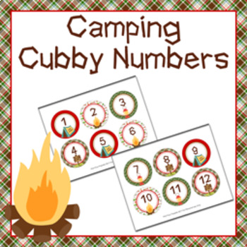 Camping Cubby Number Labels 1-30
