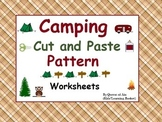 Camping Cut and Paste Pattern Worksheets: