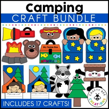 Camping Cut and Paste Set