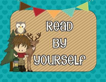 Camping Cuties Literacy Signs