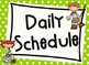 Camping Daily Schedule