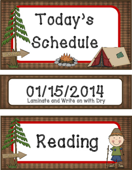 Camping Schedule Cards