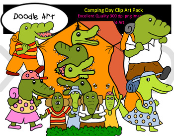 Camping Day Clipart Pack