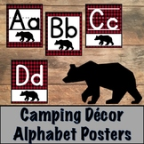 Camping Decor Alphabet Posters