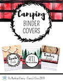 Camping Decor Binder Covers