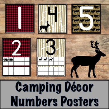Camping Decor Number Posters