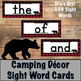 Camping Decor Sight Word Cards