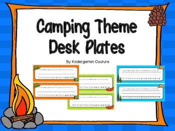Camping Desk Plates