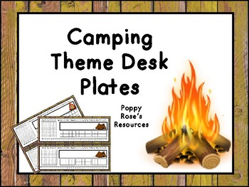 Camping Desk Plates