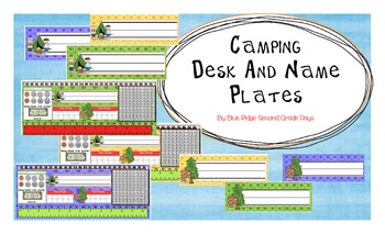 Camping Desk and Name Plates