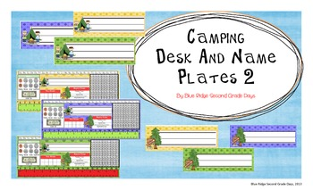 Camping Desk and Name Plates 2
