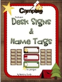 Camping Desk and Name Tags