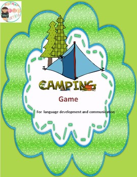 Camping Dice Literacy Board Game