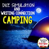 Camping Writing Activity Dice Simulation