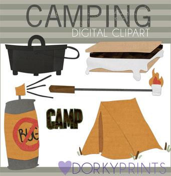 Camping Digital Clip Art