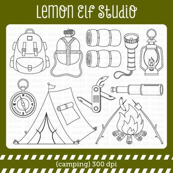 Camping-Digital Stamp (LES.DS68)