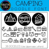 Camping Doodle FONT {Creative Clips Clipart}