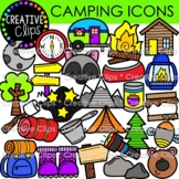 Camping Doodle Icons  {Sport Clipart}