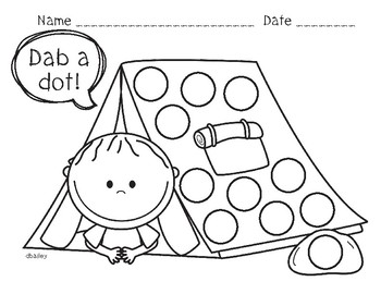 Camping Dot Dabbers for Fine Motor