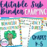 Camping {EDITABLE} Substitute Binder