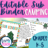 Camping {EDITABLE} Substitute Binder
