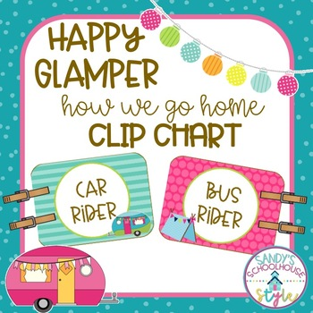 Camping Editable How We Go Home Clip Chart