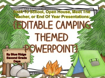 Camping Editable Powerpoint - Back To School, Open House,