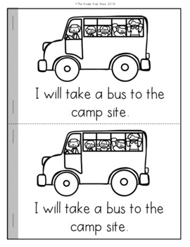 Camping Emergent Reader