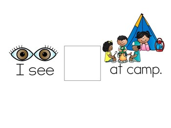 Camping File Folder Activities for Speech & Language