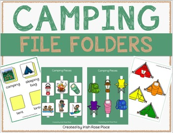 Camping File Folder Duo