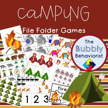 Camping File Folder Games