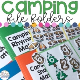 Camping File Folders for Special Education